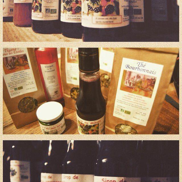 Les produits bios de Christine Roche - Les Ateliers de la Grange #bio #cueillette #tisane #lesateliersdelagrange #rencontre
