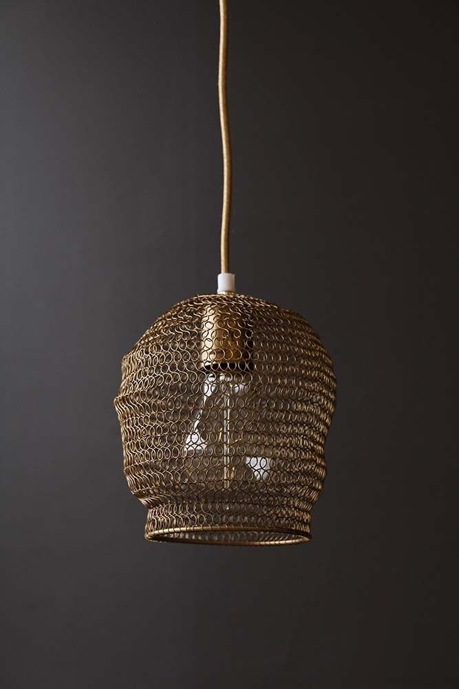 Tainted bubble antique bronze chain link pendant light from rockett st george