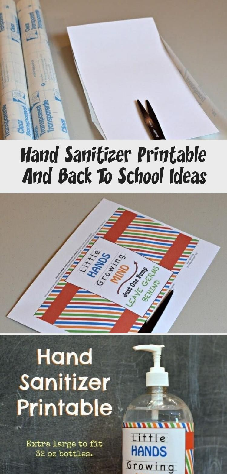 Hand Sanitizer Printable And Back To School Ideas Hand Sanitizer