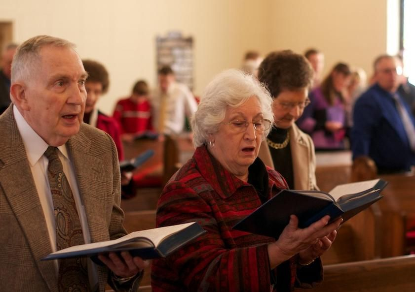 Image result for church service old people