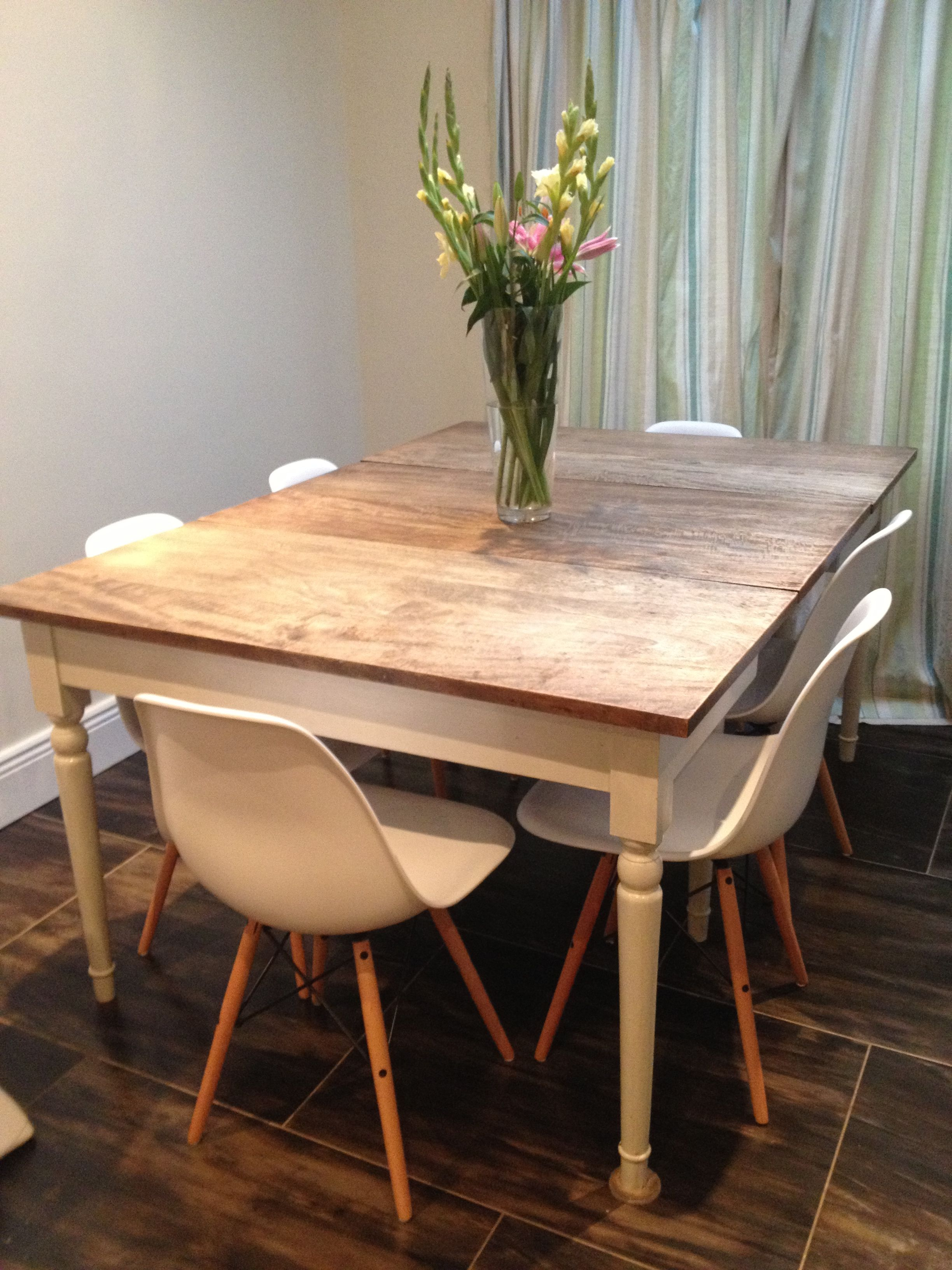 Country style table with Eames style chairs Dinning room