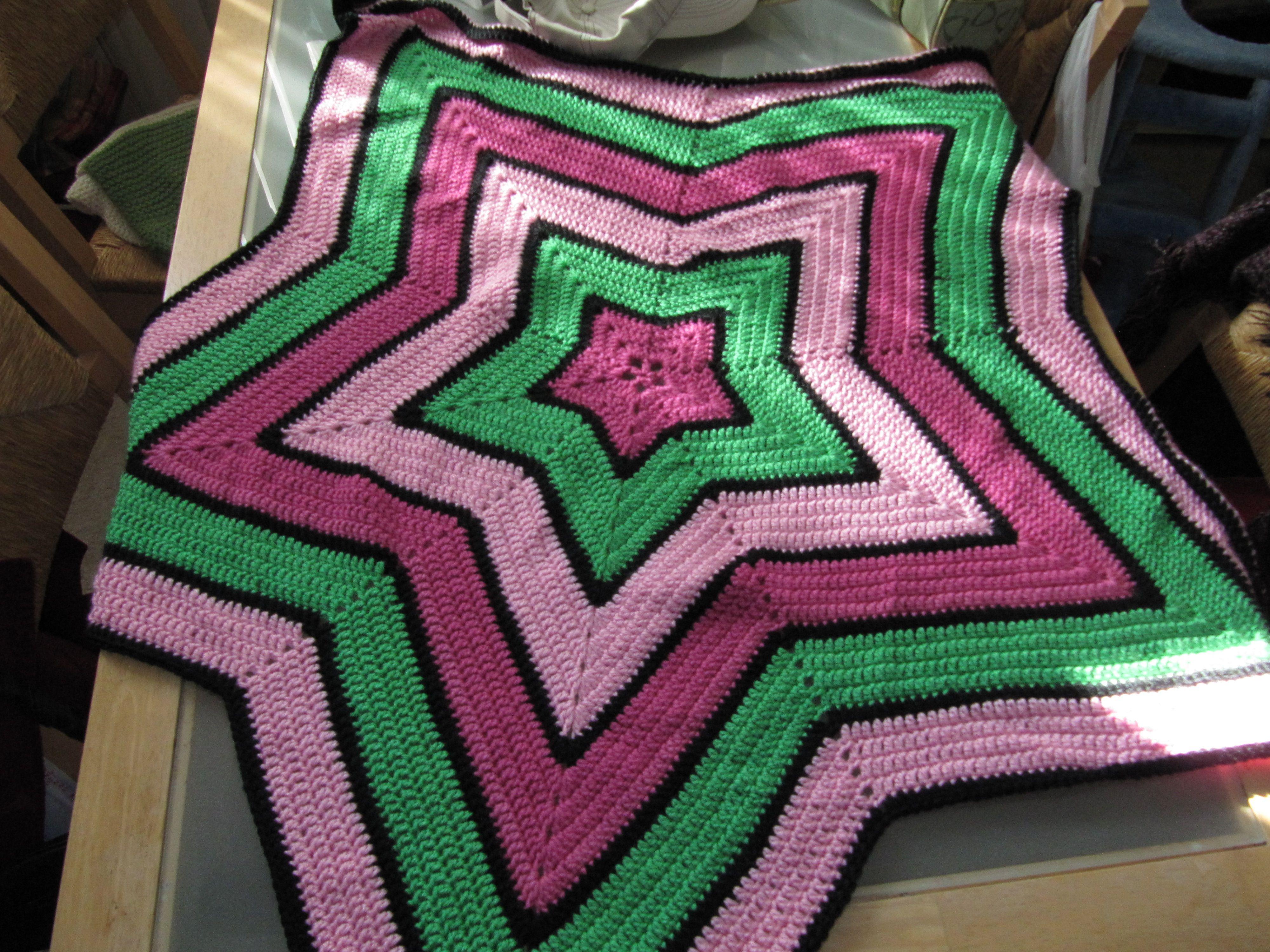 crochet star afghan   mandalas   Pinterest   Mandalas