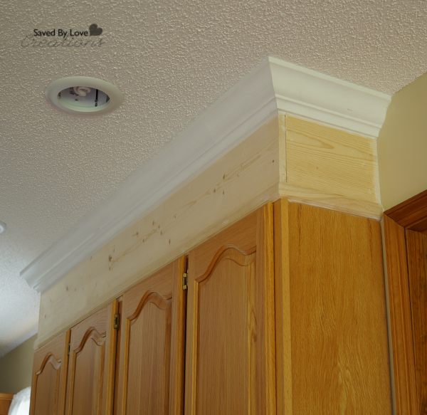 kitchen cabinet crown molding silver knobs diy upgrade with paint and for the take cabinets to ceiling moulding so important before painting give an updated look bar cuisine