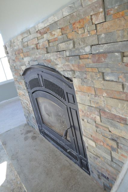 diy fireplace hearth and stacked stone wall tile home decor diy fireplace hearth diy. Black Bedroom Furniture Sets. Home Design Ideas