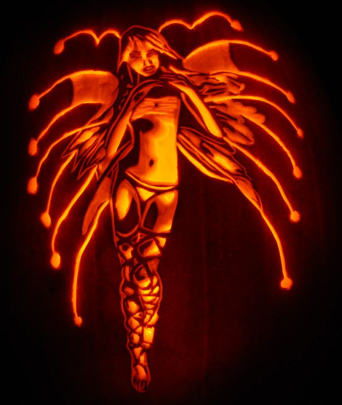 Stencil of real pumpkin about fantasy s free