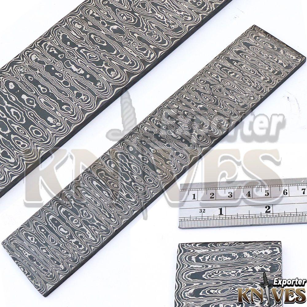 Custom Hand Forged Damascus Steel Ladder Pattern Billet for