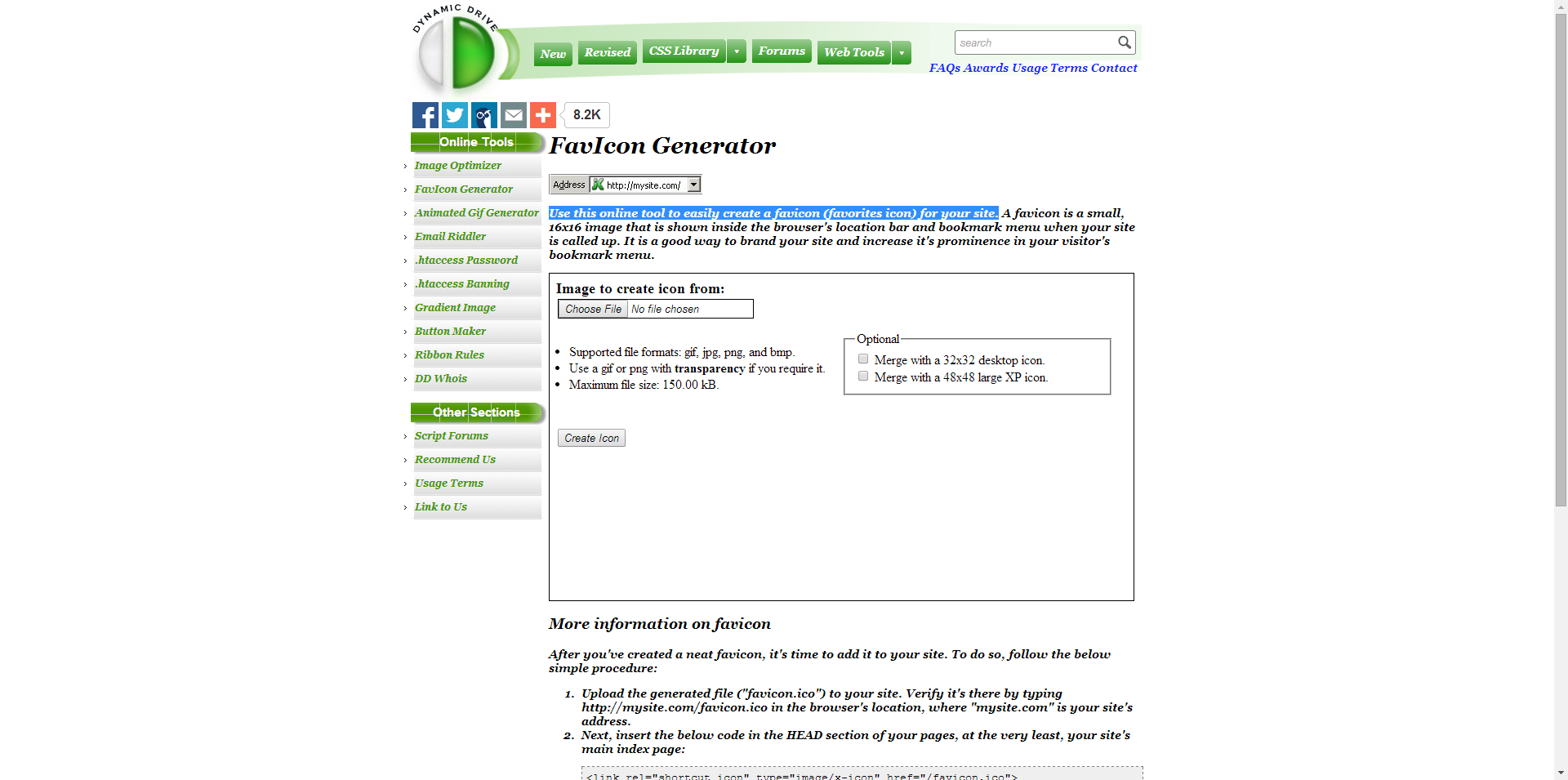 FavIcon Generator - Use this online tool to easily create a