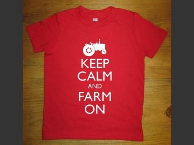 Keep Calm and Farm On ... and more gift ideas for farm families | Agriculture.com | http://www.agriculture.com/family/15-unique-gifts-f-farm-families_327-sl27482#