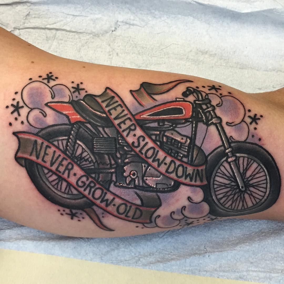 Route 66 tattoo picture at checkoutmyink com - Harley Davidson Tattoo