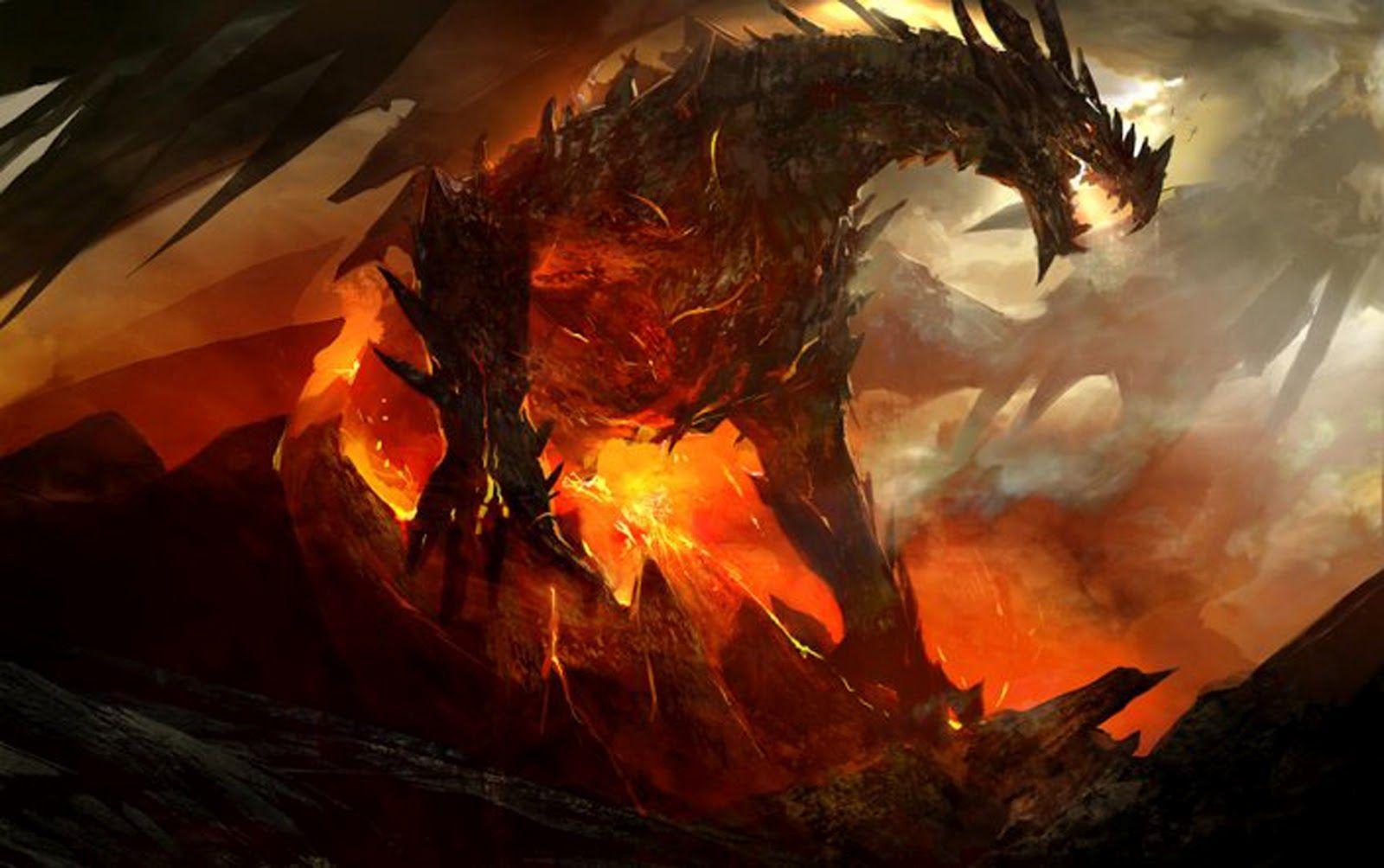 Fire Dragon Red+fire+breathing+fire+dragon+knight+battle How