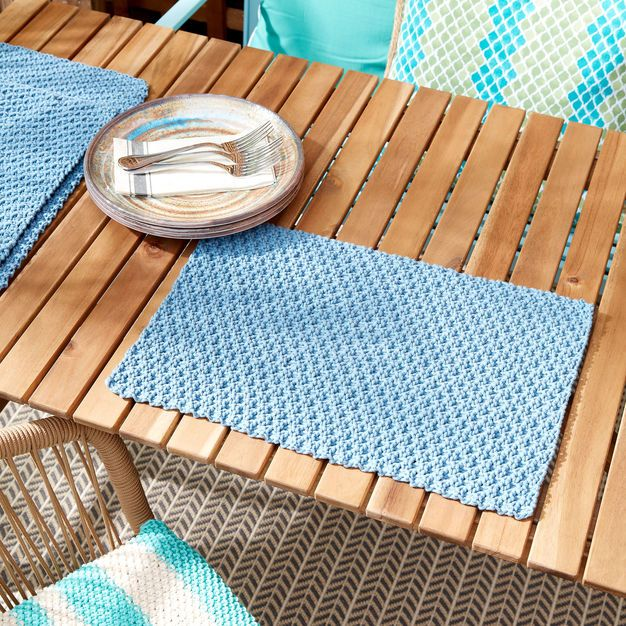 Placemat Pattern In Docs Or Do Seed Stitch Crochet Placemat Patterns Placemats Patterns Crochet Placemats