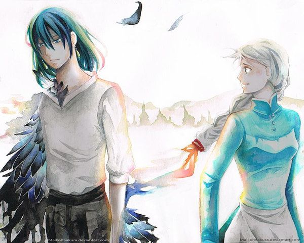 howl and sophie- love this drawing!  http://browse.deviantart.com/art/Howl-And-Sophie-Fanart-355379416
