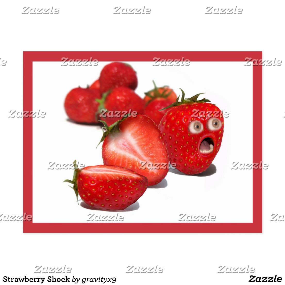 Strawberry shock postcard send funny greetings with this explore funny greetings holiday cards and more m4hsunfo Image collections