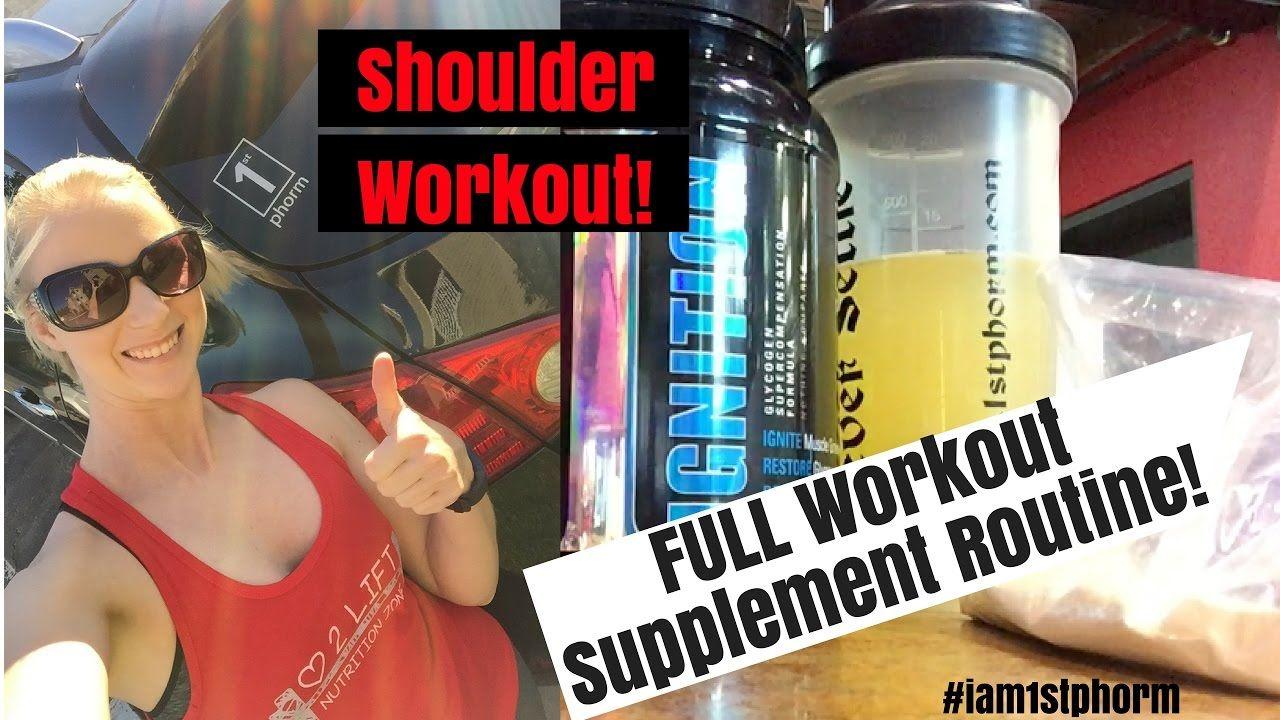 Vlog 3: Pre/Post Workout Supplements & Shoulder Routine!