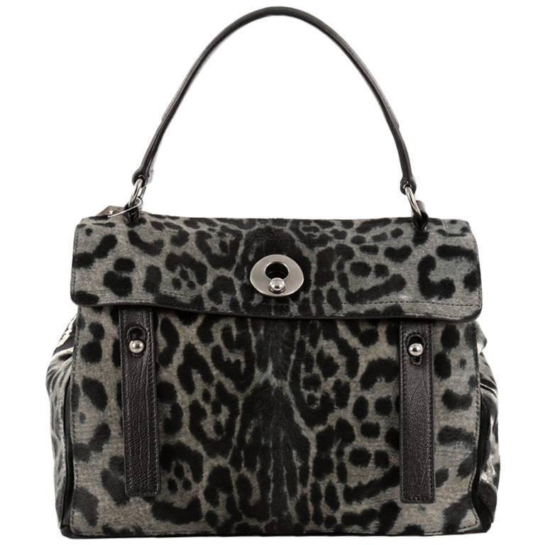 014230e4b75e Saint Laurent Muse Two Handbag Leopard Print Pony Hair Medium ...