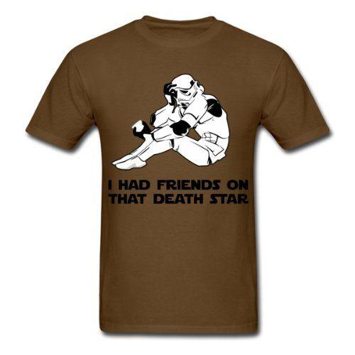 Spreadshirt, I had friends on that death star - star wars geek , Mens Standard Weight T-Shirt, brown, L