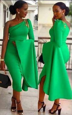African dress, African clothing for Women, African Summer Dress, Kente Dress, Off Shoulder Dress, OneSleeve Dress #africandressstyles