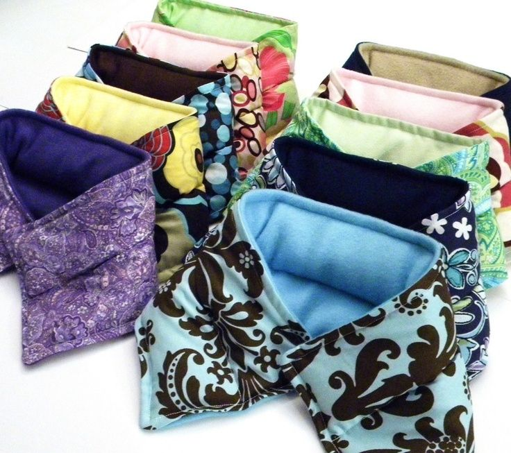 Microwave Rice Bags Ten Heating Pads Neck Wraps Heat Therapy Flax