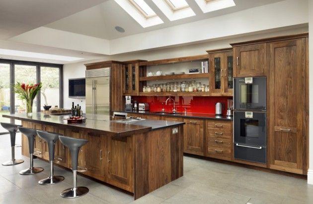 16 atemberaubende Designs von edlen Holzküchen ...