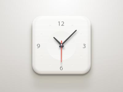 Clock iOS Icon | Icon Design (our fav) | Icon design, Ios