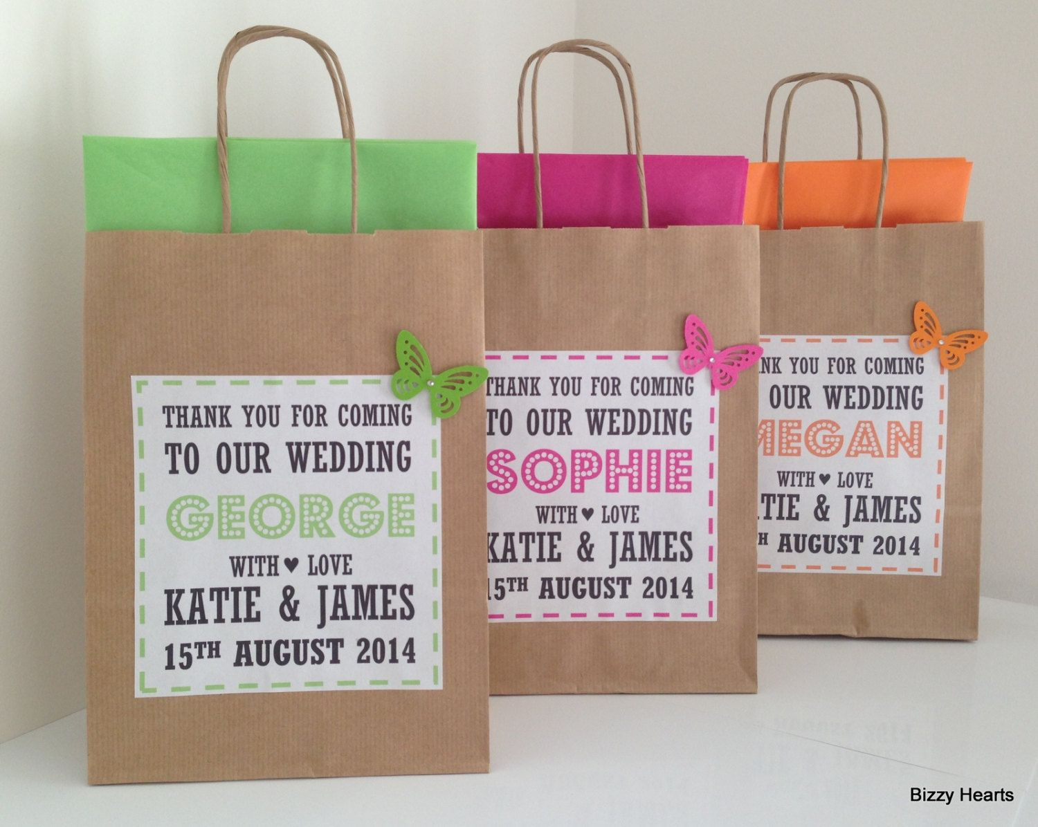 Kids Wedding Gifts: Wedding Gift Bag / Wedding Favour / Personalised By