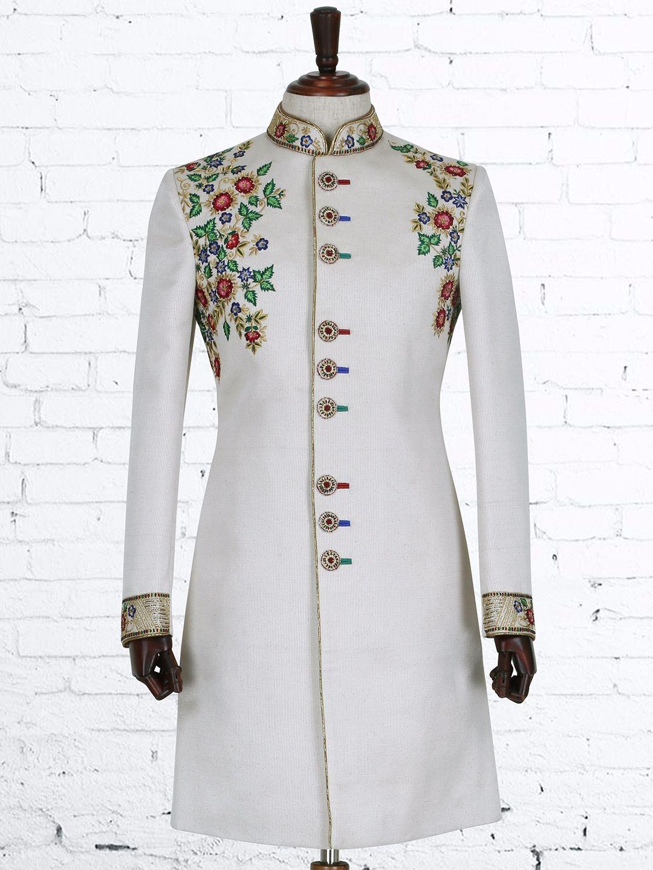 Shop cream silk designer indo western online from gfashion india