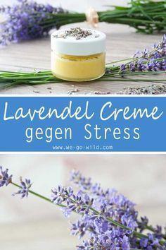 DIY Lavendel Creme gegen Stress und Kopfschmerzen #badekugelnselbermachen
