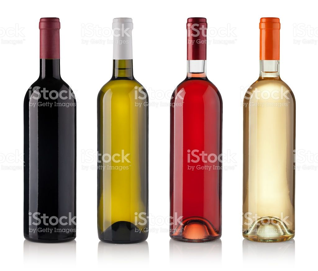 Set Of White Rose And Red Wine Bottles Isolated On White Background Bottle Wine Bottle Red Wine Bottle