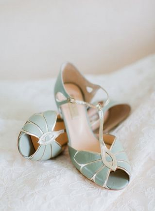 minty green spring wedding   Mint wedding shoes, Wedding shoes and ...