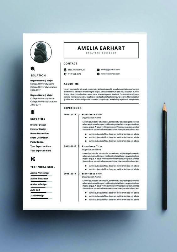 Resume Template, Professional Resume, Ms word Resume