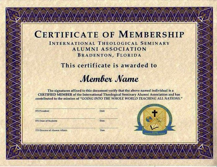 Purple certificate membership 700 540 for Life membership certificate templates
