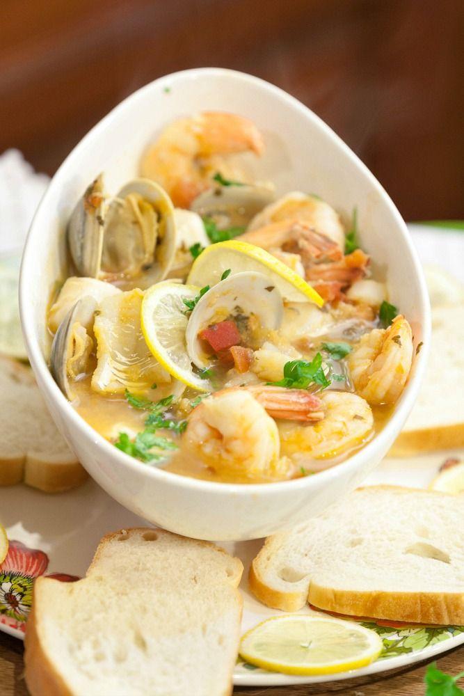 #SeafoodSunday: Healthy Tuscan Seafood Stew - Dish on Fish