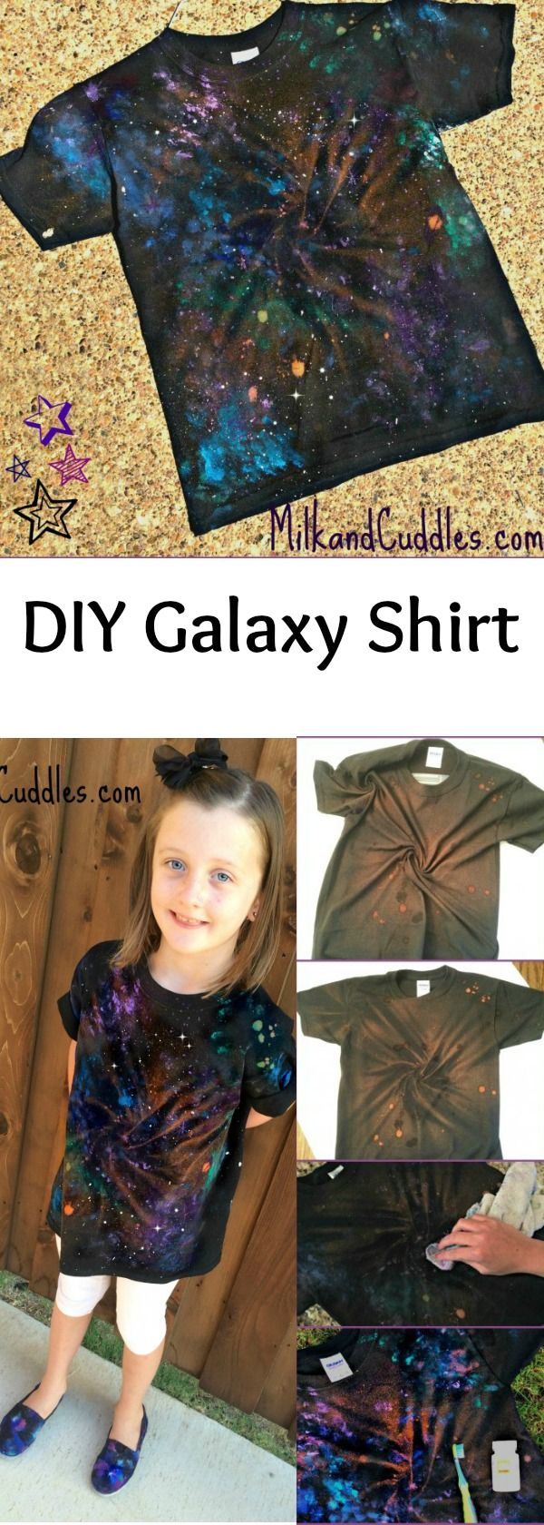 Everyday Best Shares A Dr Who And Star Wars Craft Diy Galaxy Shirt