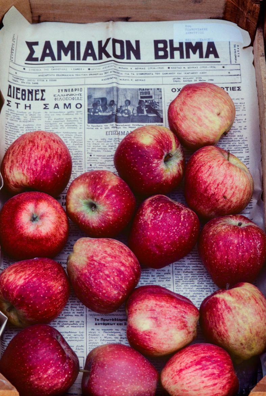 Apples Samos Market Greece