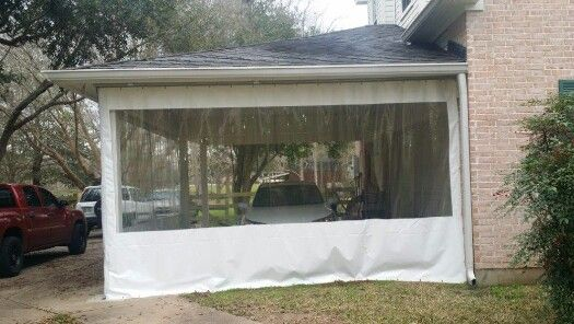 Clear Vinyl Curtains Are A Great Carport Enclosure Idea Outdoor Decor Outdoor Structures Home Projects
