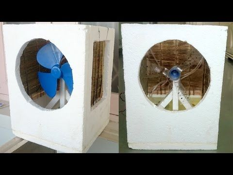How To Make An Air Cooler At Home Best Out Of Waste Navin Khambhala Crazynk Homemade Air Conditioner Diy Air Conditioner Air Cooler