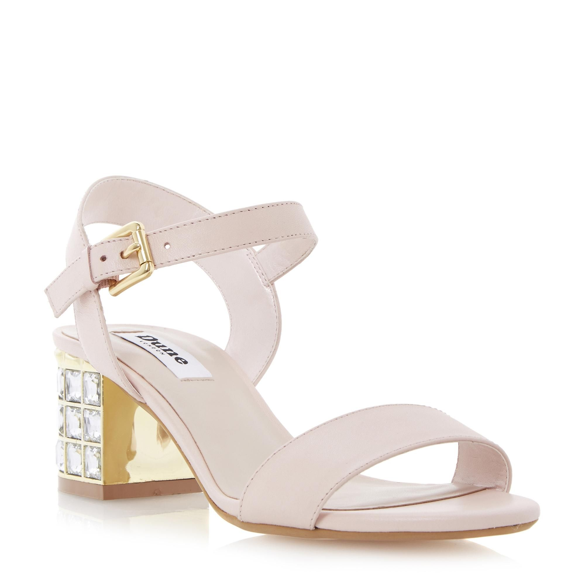 DUNE LADIES HARAH - Jewelled Block Heel Sandal pink | Dune Shoes Online