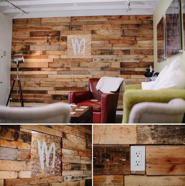Dining Room Obsessed With This Pallet Wall Took 40 Pallets To Build Accent