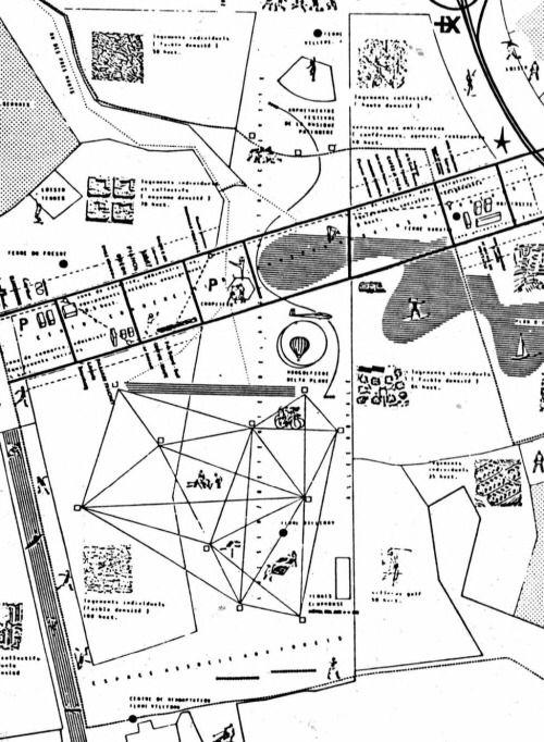 Oma Rem Koolhaas Ville Nouvelle Melun Senart Paris Competiton