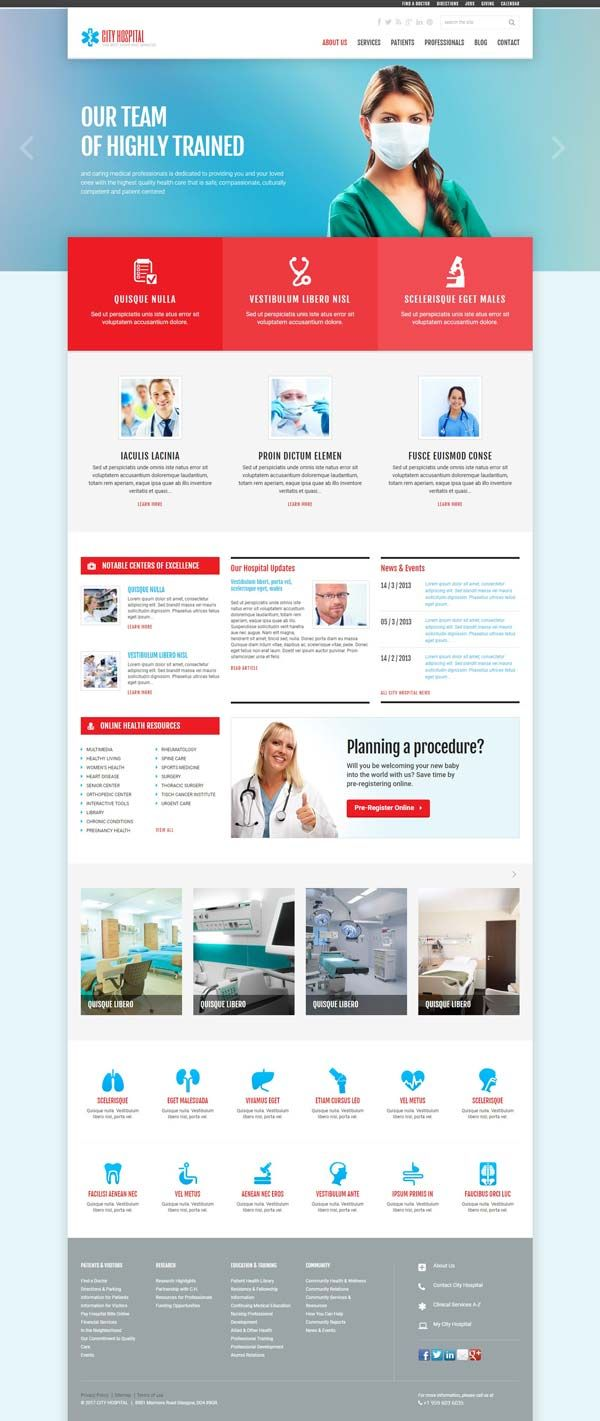 Doctor Website Template   Medical Templates   Pinterest   Template ...