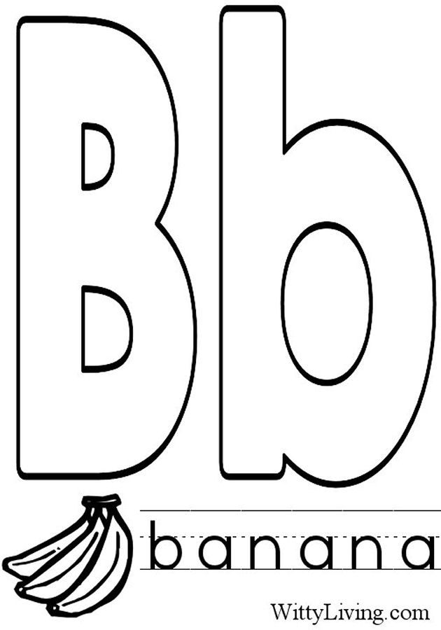 Coloring Pages Letter B Kids Crafts For Kids To Make Letter B