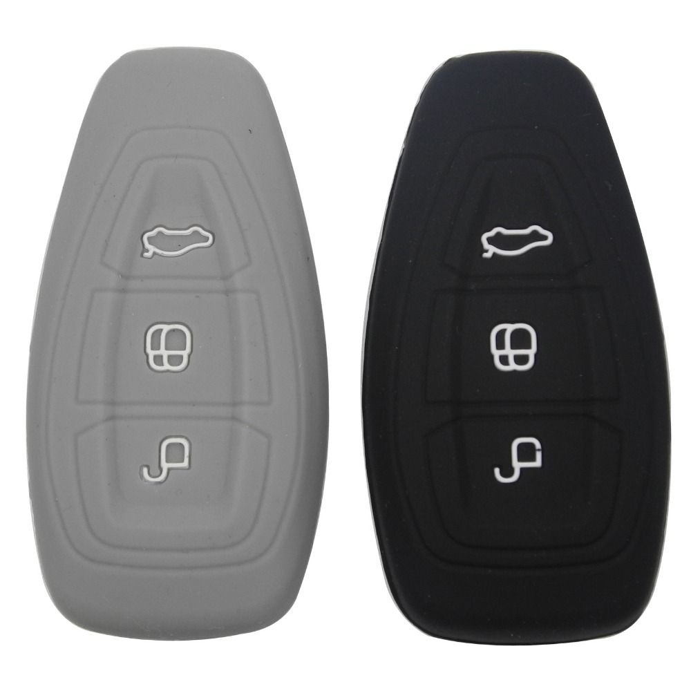 Silicone Car Smart Key Cover Remote Bag Fit For Ford Focus 3 Mk3 St Rs Ecosport Kuga New Fiesta 3 Buttons Smart Key With Logo Ford Focus Ford Remote