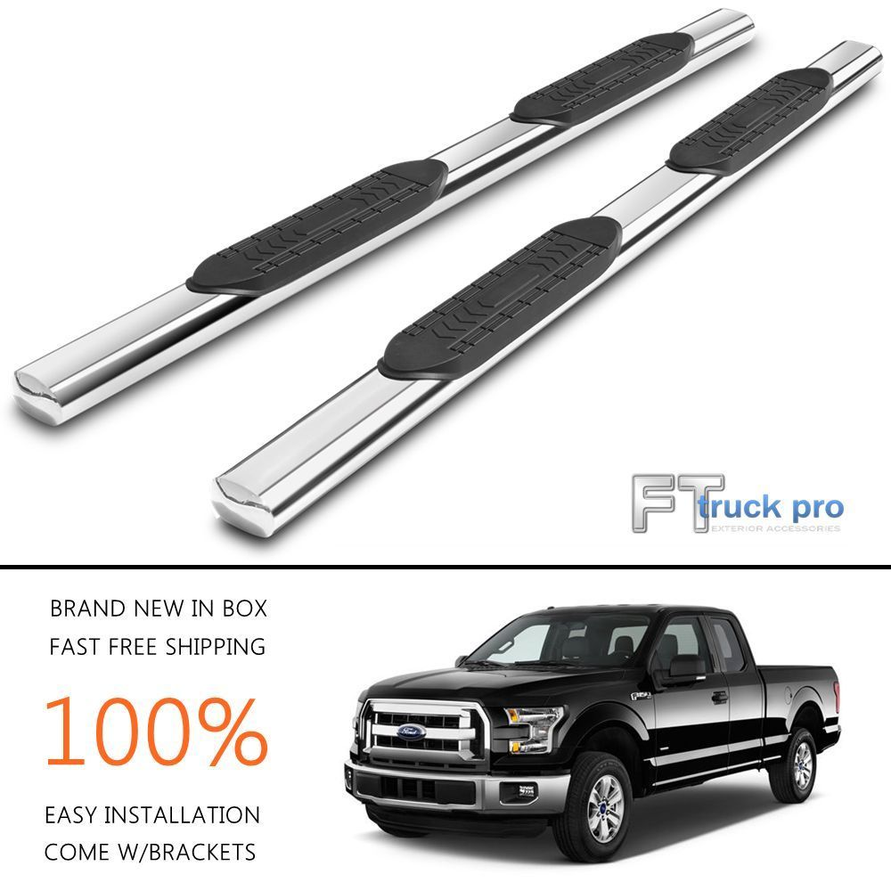 5 nerf bars running board side step stainless for 2015 2017 ford f150 super