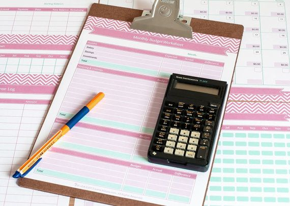 Finance Planner  Budget Tracker - Printable Planner Templates - How To Make A Household Budget Spreadsheet