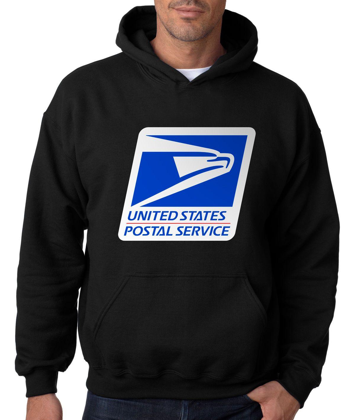 USPS POSTAL RAGLAN HOODIE Hooded Sweatshirt Logo Chest United States Service US