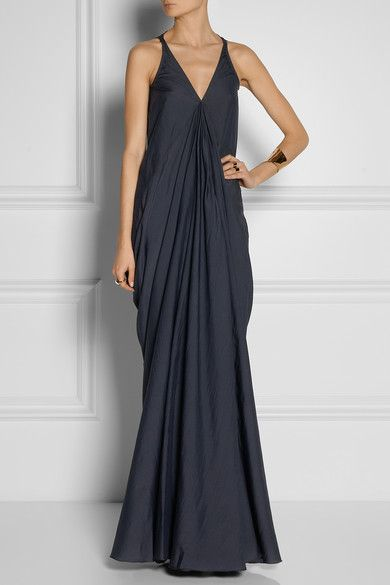 { Aurora Crepe Maxi Dress }
