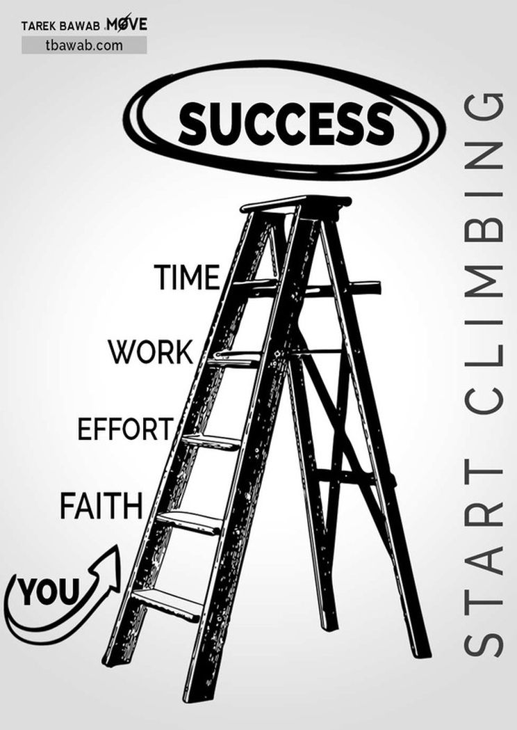 The ladder of Success   Faith encouragement, Success