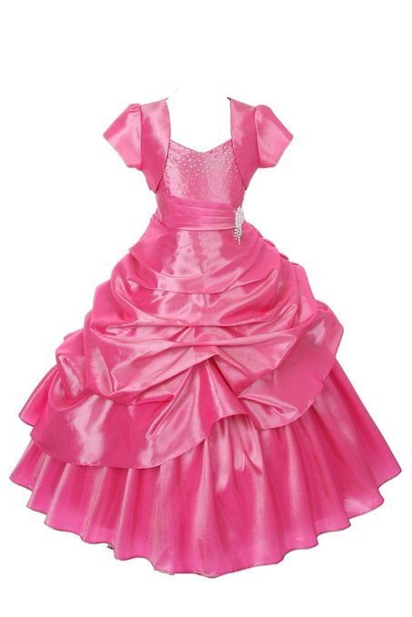 1a9a694b017 ... Pick Up Bolero Pageant Dress 12. Amazon.com  Girls Taffeta Pageant Dress  with Broche   Rhinestones (6 Diff. Colors) Size 2-18  Clothing