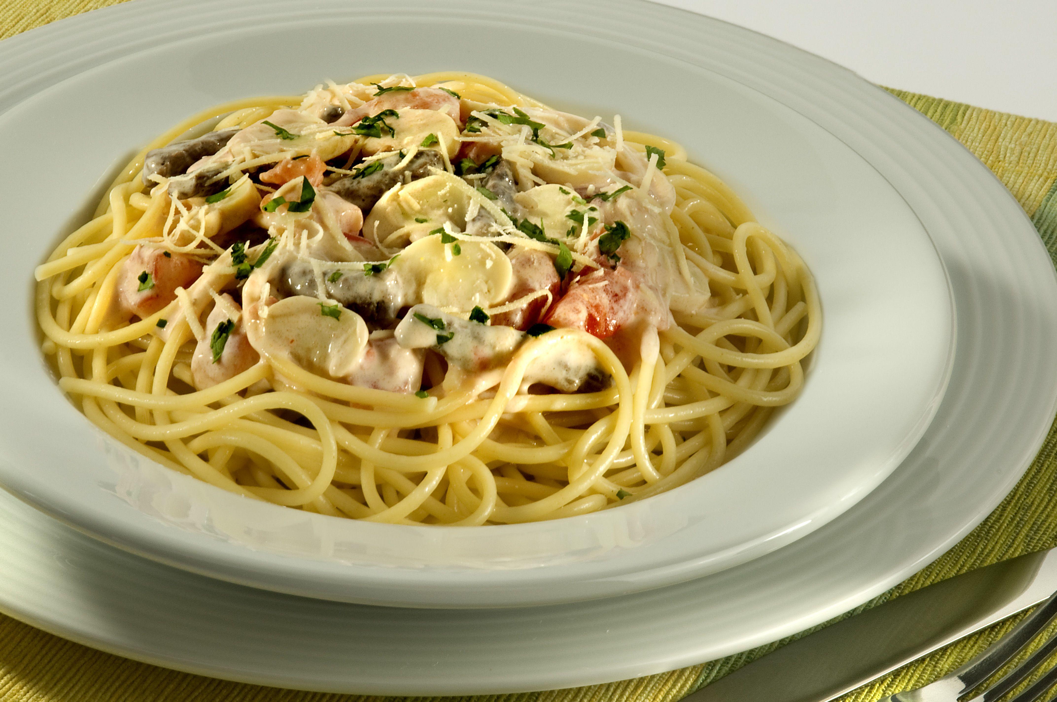 Espaguete ao Molho de Estrogonofe