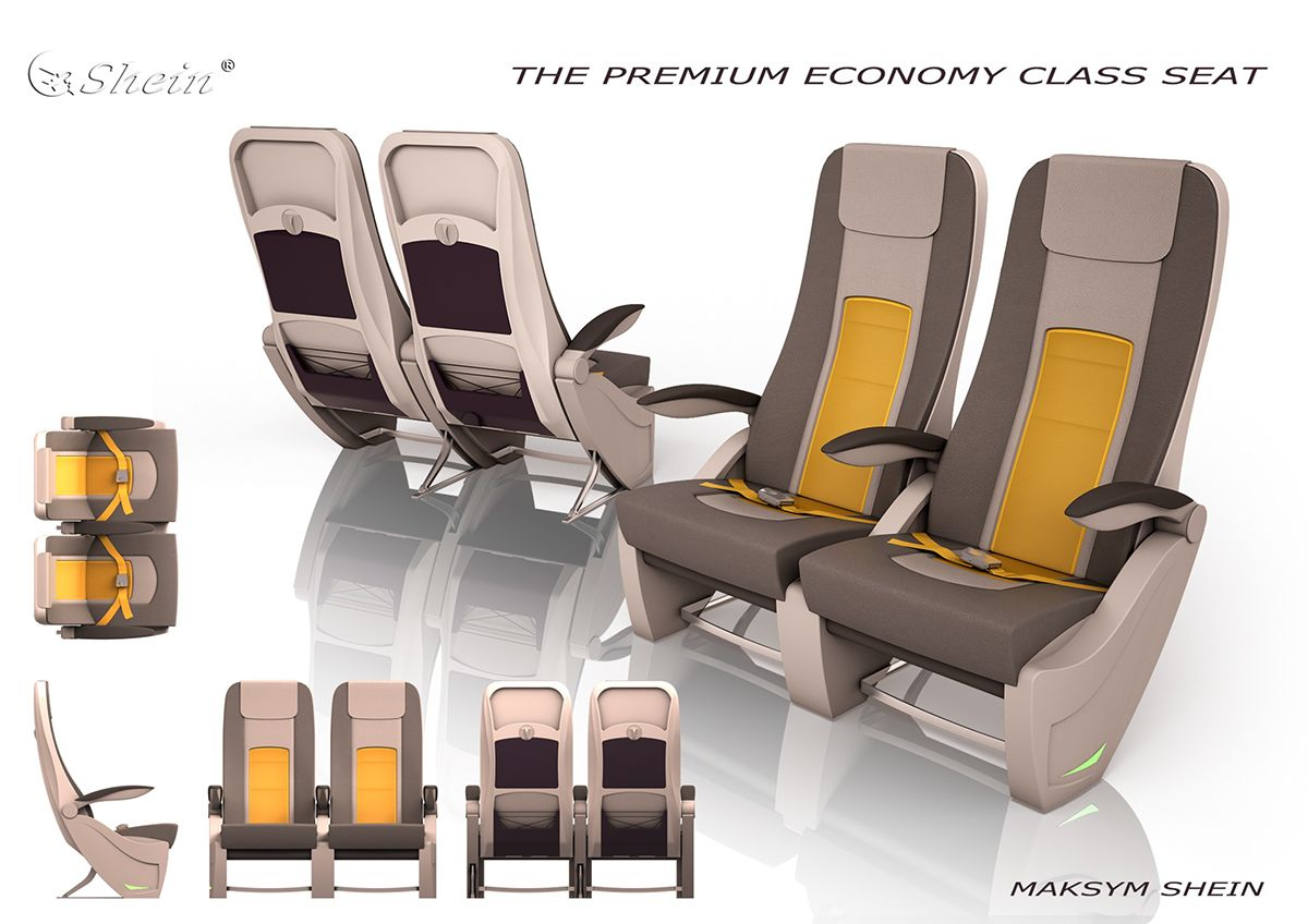 The premium economy class seat on Behance (With images